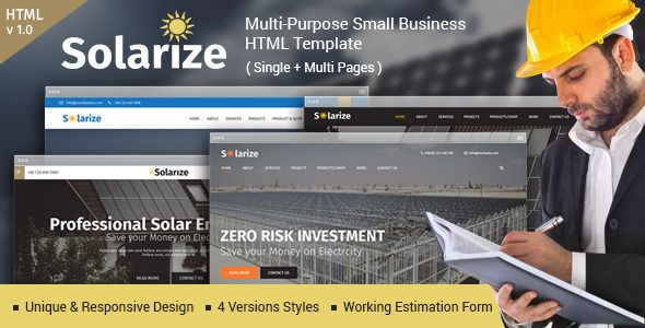 Solarize multipurpose small business html template pinterest download free solarize multipurpose small business html template business company industrial industry logestics marketing multipurpose one page accmission Images