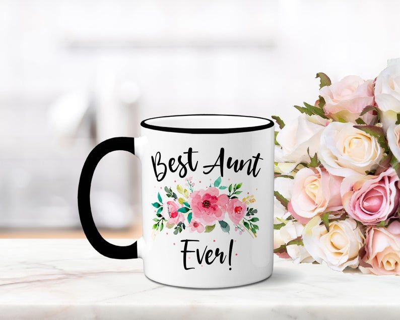 Best aunt ever coffee mug gift for aunt aunt present