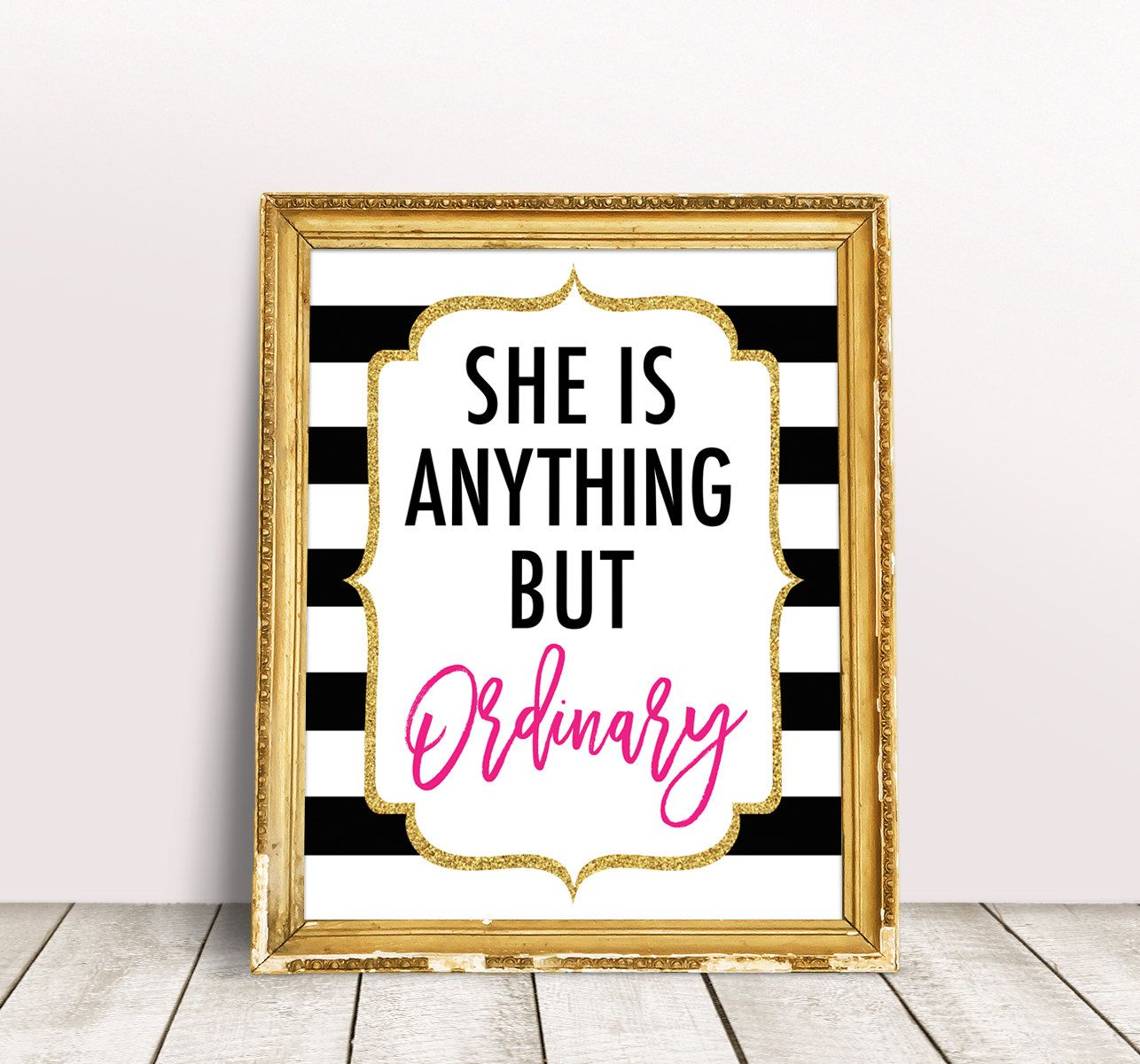 Kate Bridal Shower Decorations She Is Anything But Ordinary Sign
