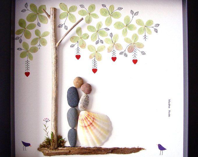 Meilleur cadeau galet art cadeau de mariage pour lui et - Cadeau jeune marie ...