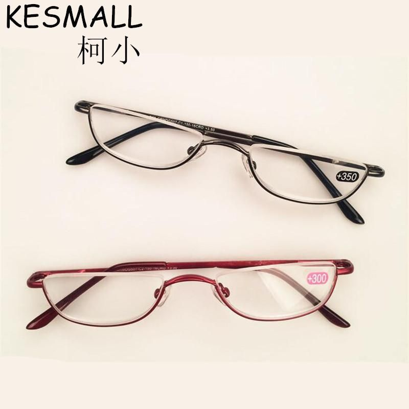 9589f686d10 Half Rim Reading Glasses Women Men Eyeglasses Alloy Frame Light Reader  Glasses Oculos de Grau Old People Reading Glasses YJ810