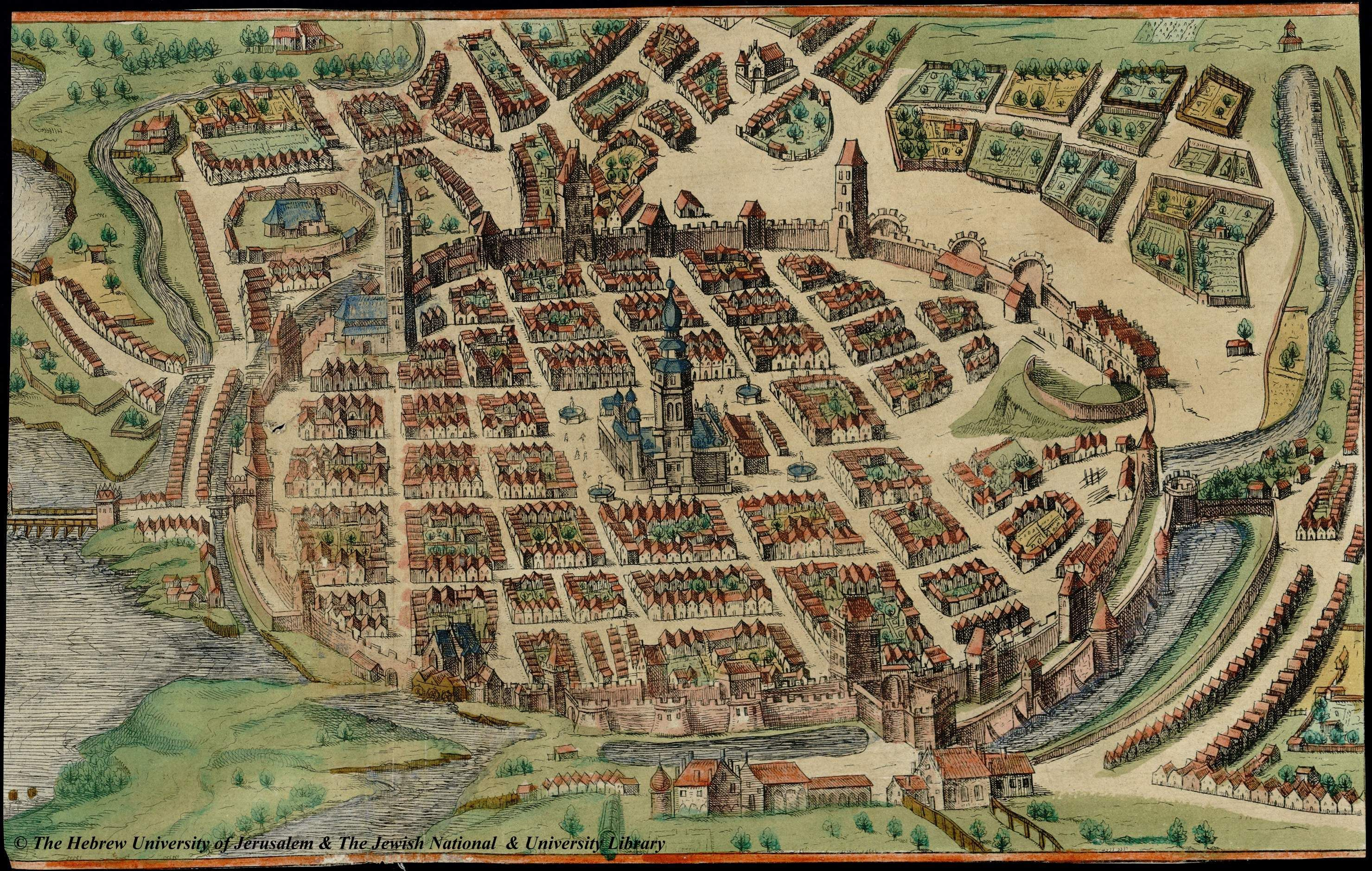 braunhogenbergVI Map of Poznan 1617 Braun and
