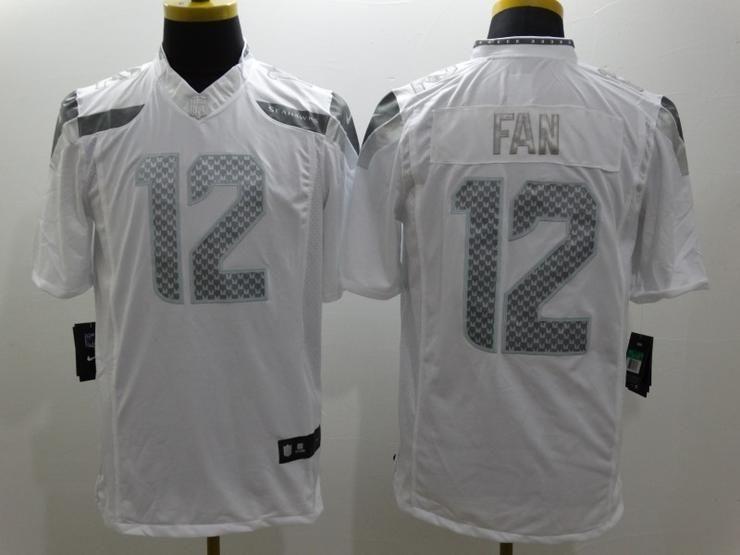 Men 12 Fan Jersey Football Seattle Seahawks Jersey Seahawks Jersey Seattle Seahawks White Nikes