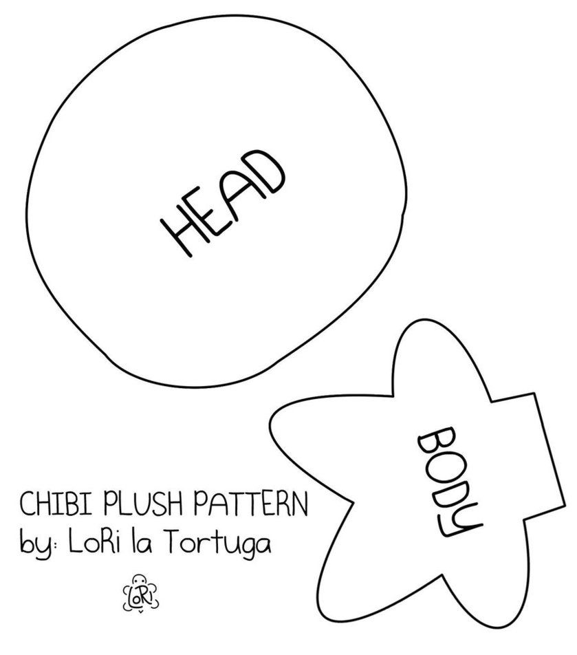 Chibi plush pattern by lori la tortuga on deviantart for Felt plushie templates