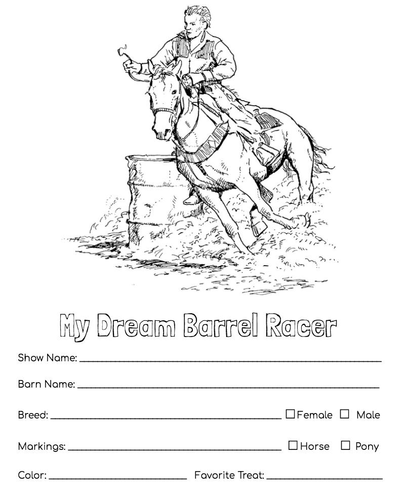 Dream Horse Activity Pages Horses Horse Camp Horse Care [ 992 x 794 Pixel ]