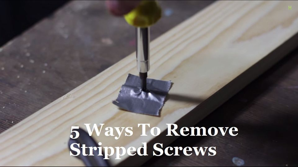 5 ways to remove stripped screws stripped screw remove