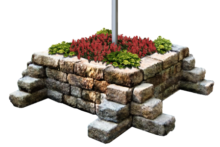 Flag Pole Flower Bed Ideas