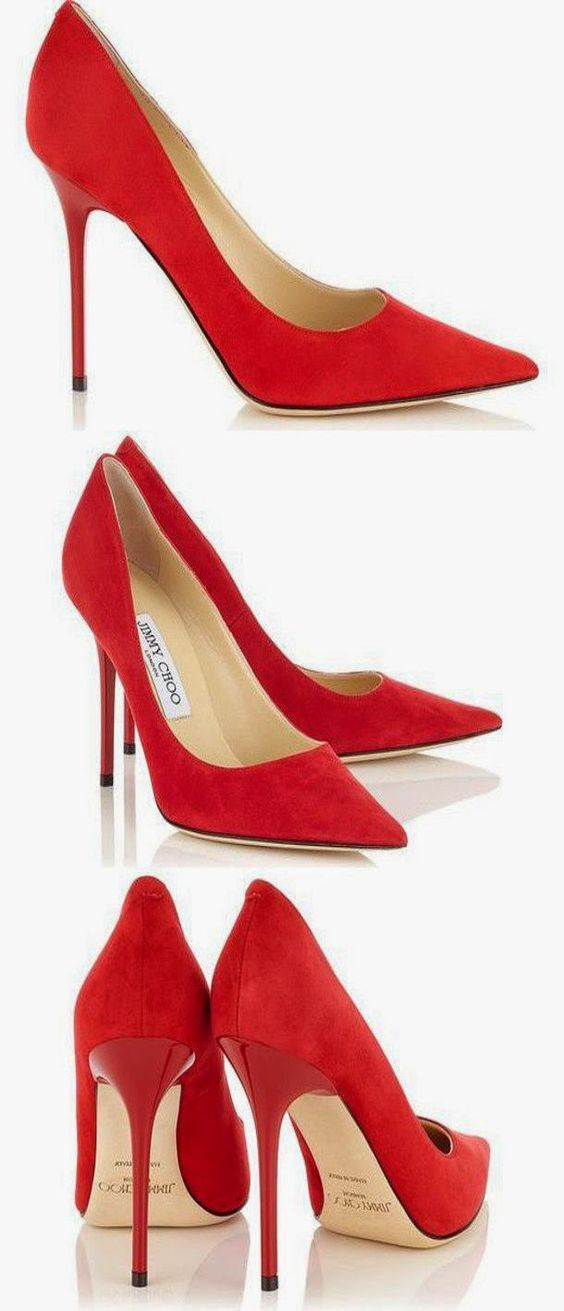 59386c77b6 Jimmy Choo ABEL Red Suede | Seeing Red | Shoes, Shoe boots, Fashion ...
