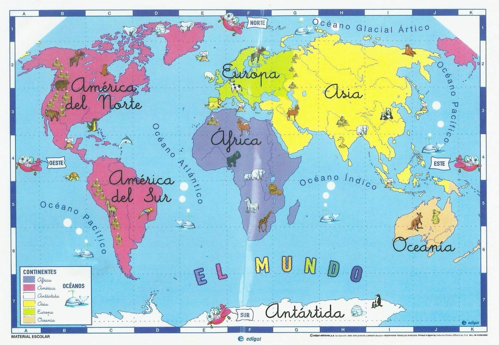 Blog de los ni os mapas de espa a y del mundo para ni os - Mapamundi pizarra ...