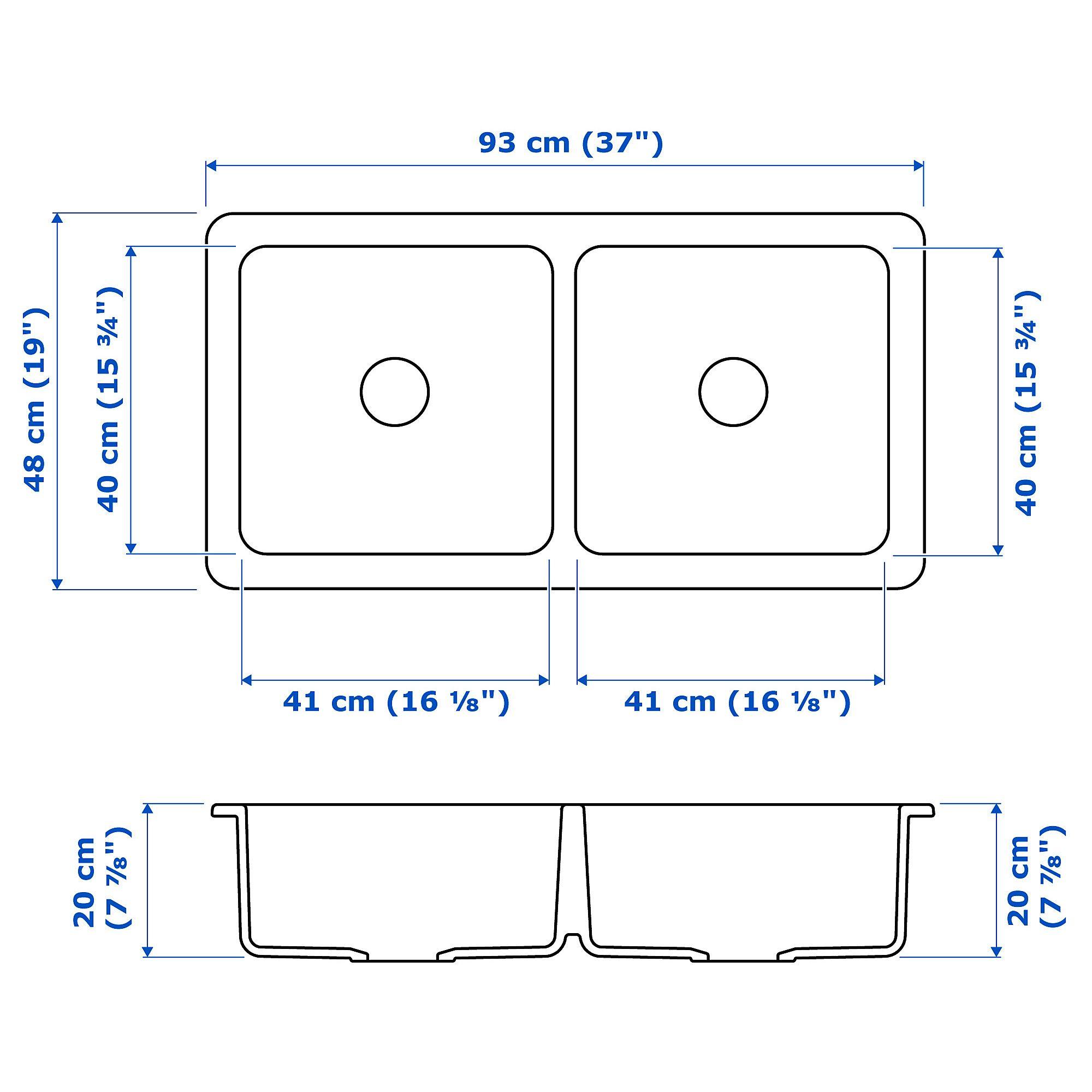 Havsen Apron Front Double Bowl Sink White Ikea Double Bowl Sink Sink Sink Accessories