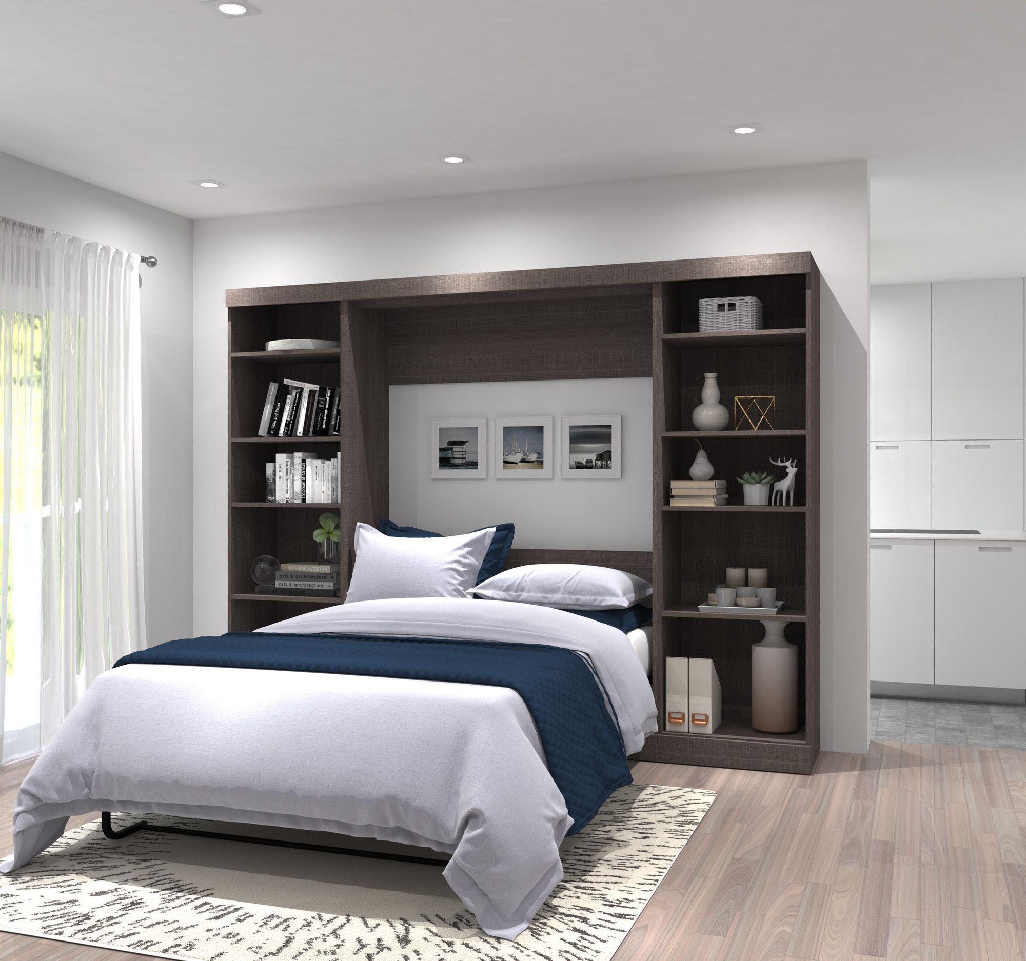 Walley Full Double Murphy Bed Remodel Bedroom Guest Bedroom Remodel Wall Bed