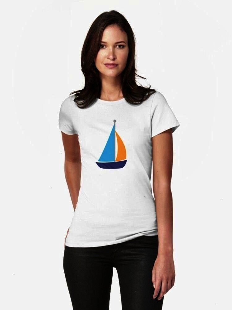TShirt  Zethinova  Sail Boat Fitted TShirt Sail Boat Fitted TShirt  Zethinova  Sail Boat Fitted TShirt  Illustrates the key to good cricket the love of the game Illustrat...