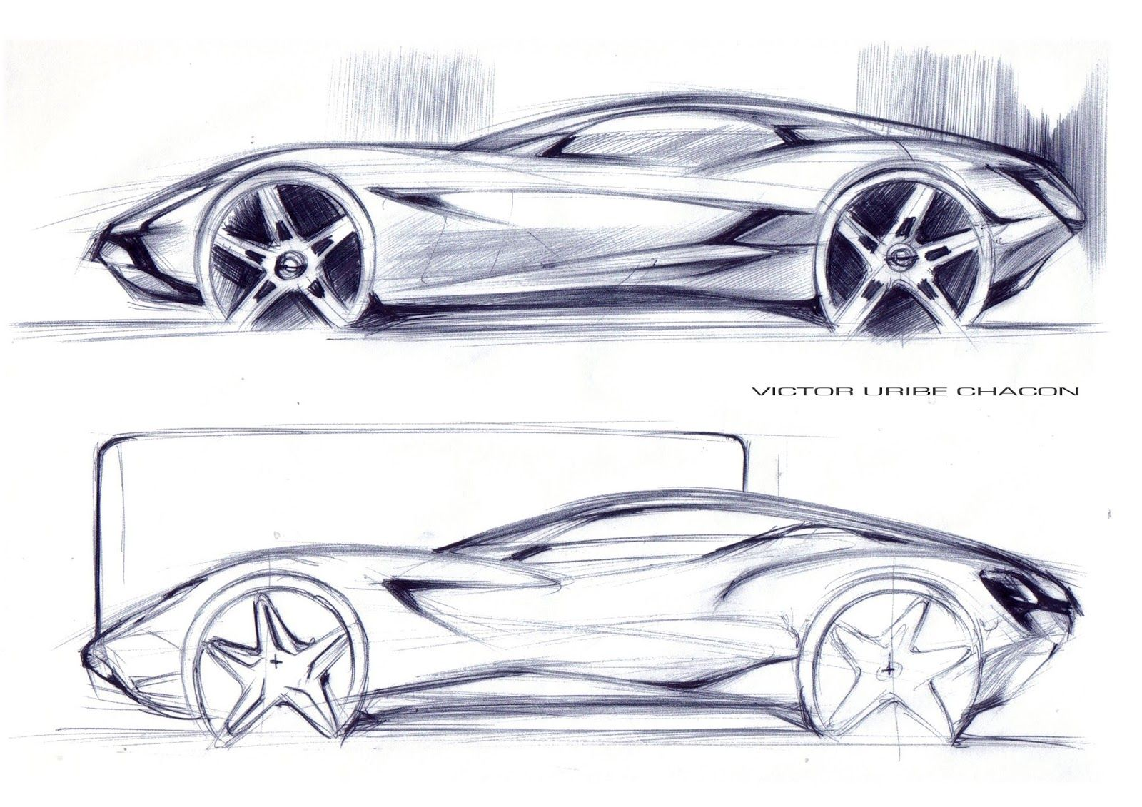 Victor Uribe Chacon Creative Automotive Designer Car Design Sketch Concept Car Sketch Car Design