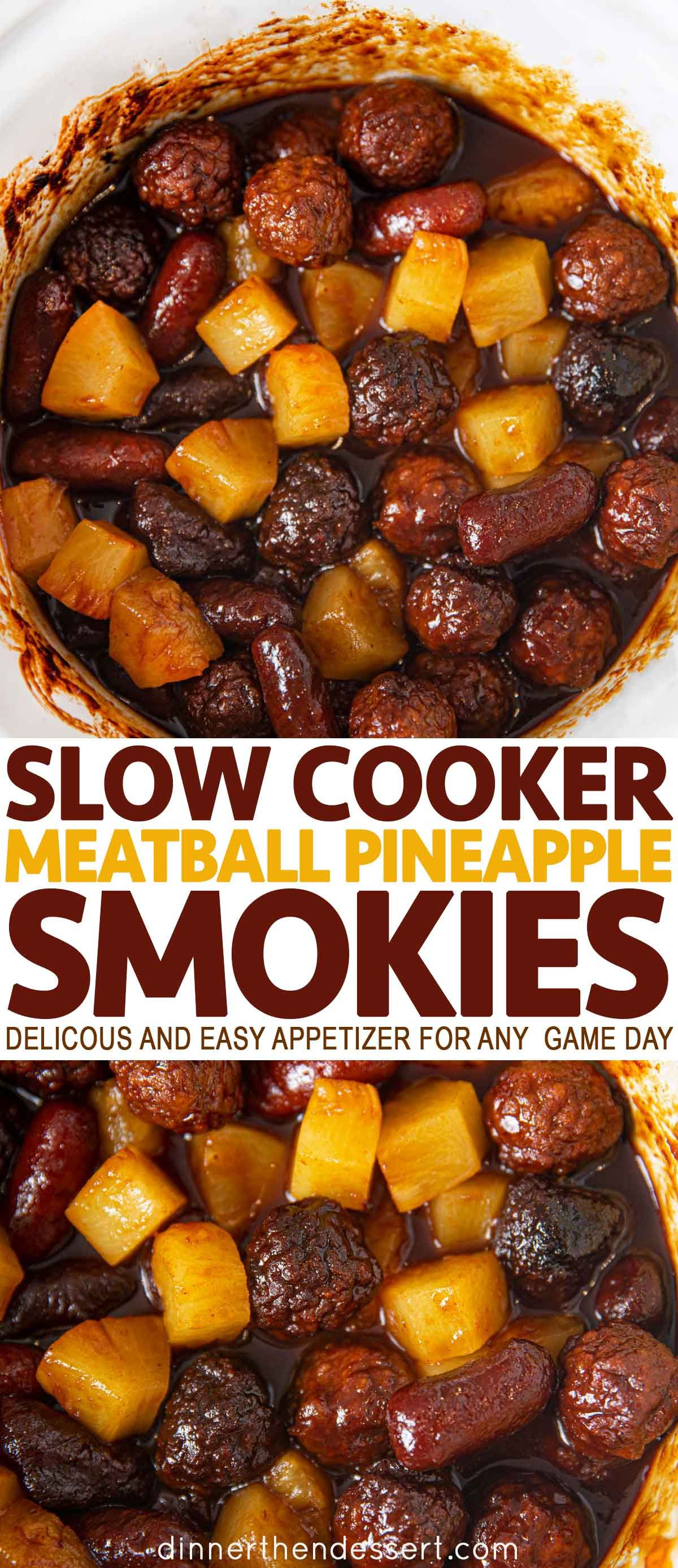 Photo of Slow Cooker Meatball Pineapple Smokies Recipe – Dinner, then Dessert