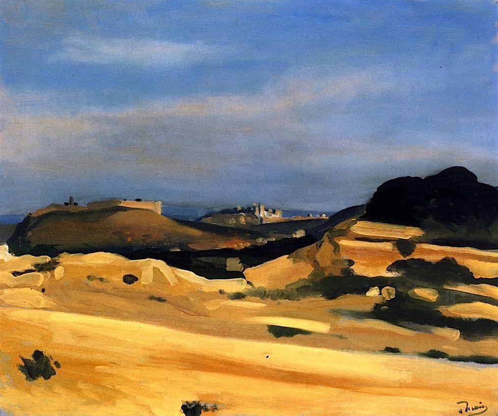 View of Villeneuve-lès-Avignon / Andre Derain - circa 1930