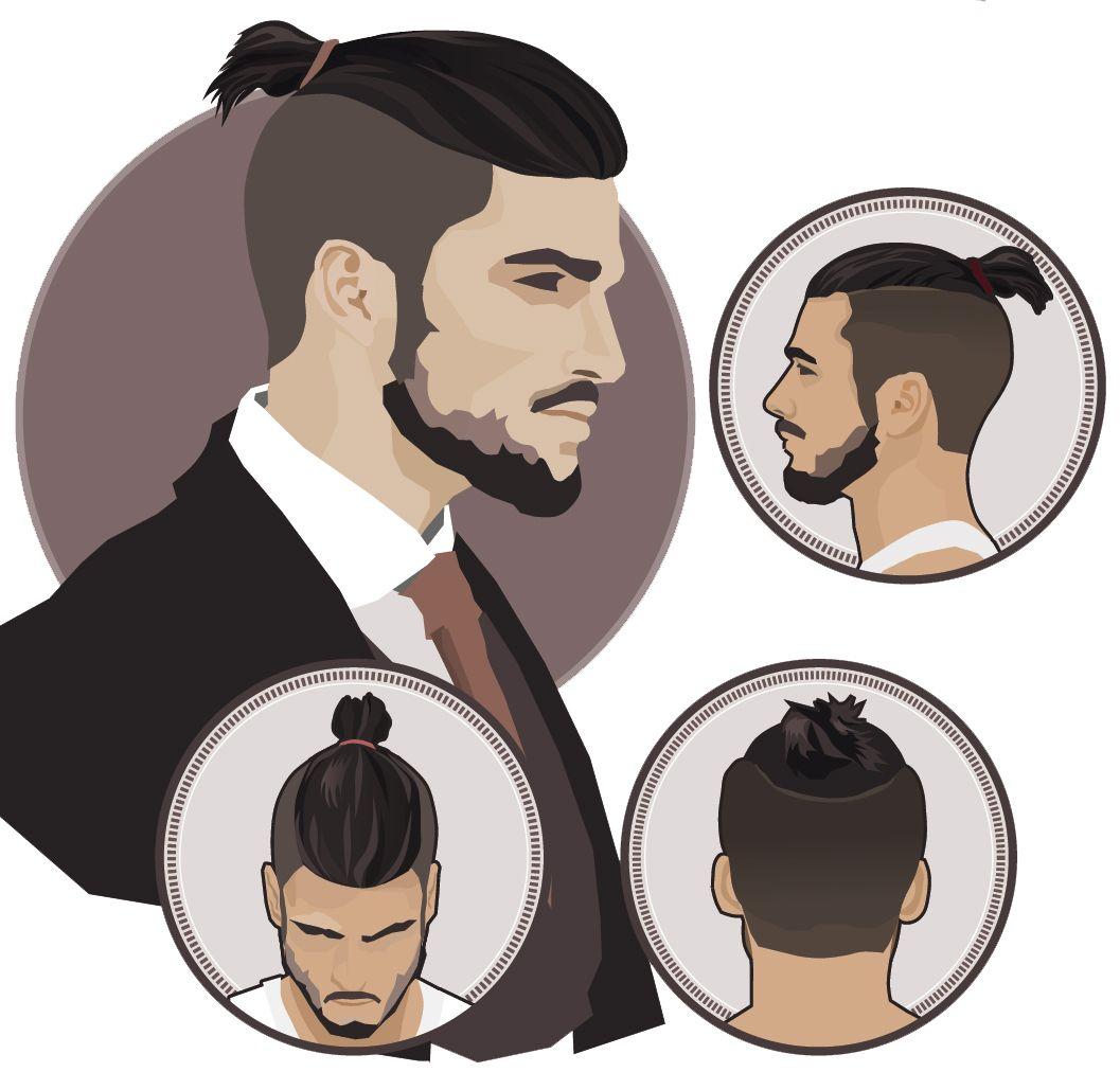 Man Top Knot Hairstyle   Meskie Zwiazane Wlosy Kok Kitka