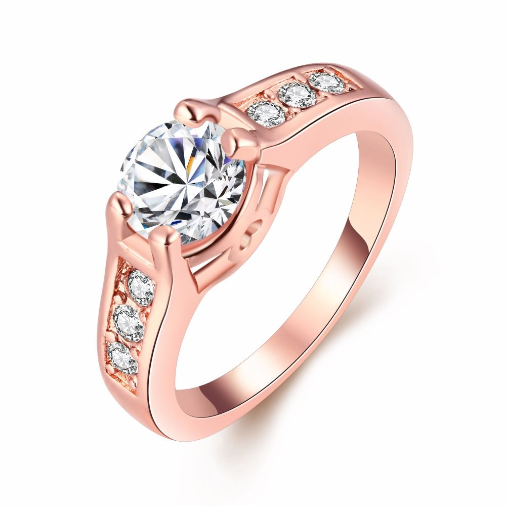 Charm Cubic Zirconia Engagement Ring Style Accessories Micro Pave