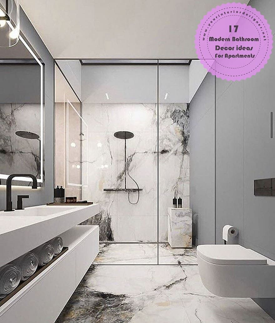17 Exclusive Modern Bathroom Decor Ideas For Apartment Residents Page 16 Of 17 Your Interior Designer Modern Bathroom Decor Contemporary Bathroom Designs Modern Bathroom