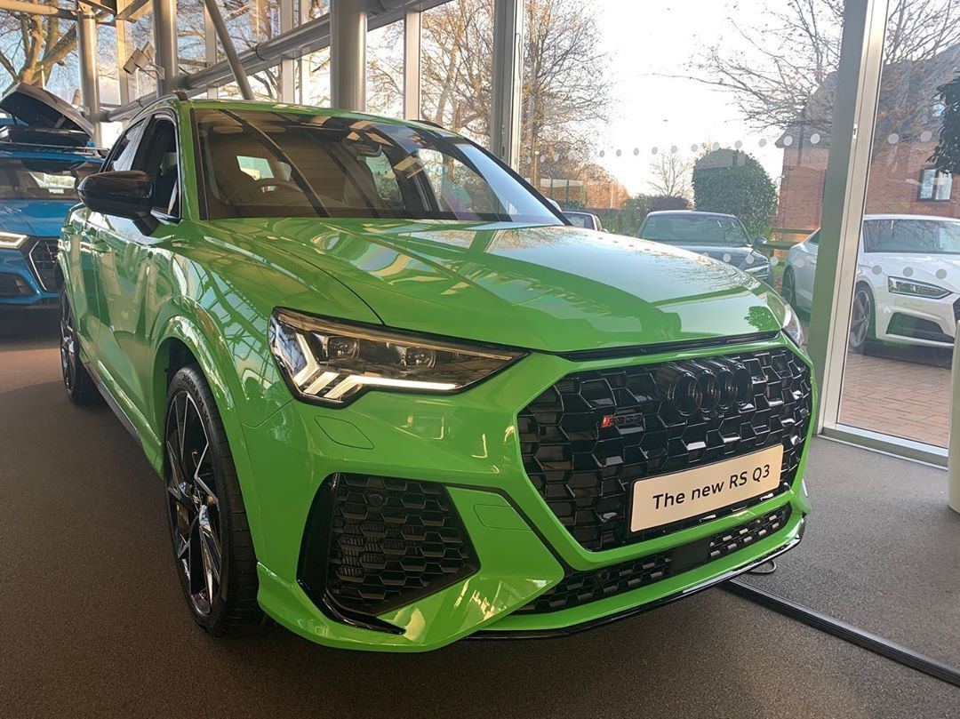 Rs Q3 In Kaylami Green In 2020 Audi Rsq3 Audi Sport Sports Car