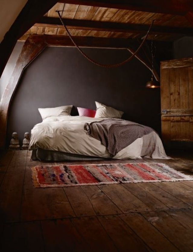 Attic // aside from black and white.. i'm obsessed with anything wood too.