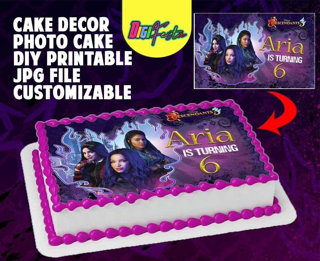 """7.5 /""""XXI Fiesta De Cumpleaños Cake Toppers Decoración Personalizada En Papel De Arroz"""