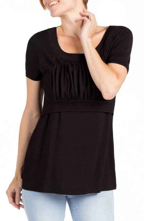 a876abb6dd42d Women's Savi Mom Westin Maternity/nursing Top, Size X-Small - Black ...