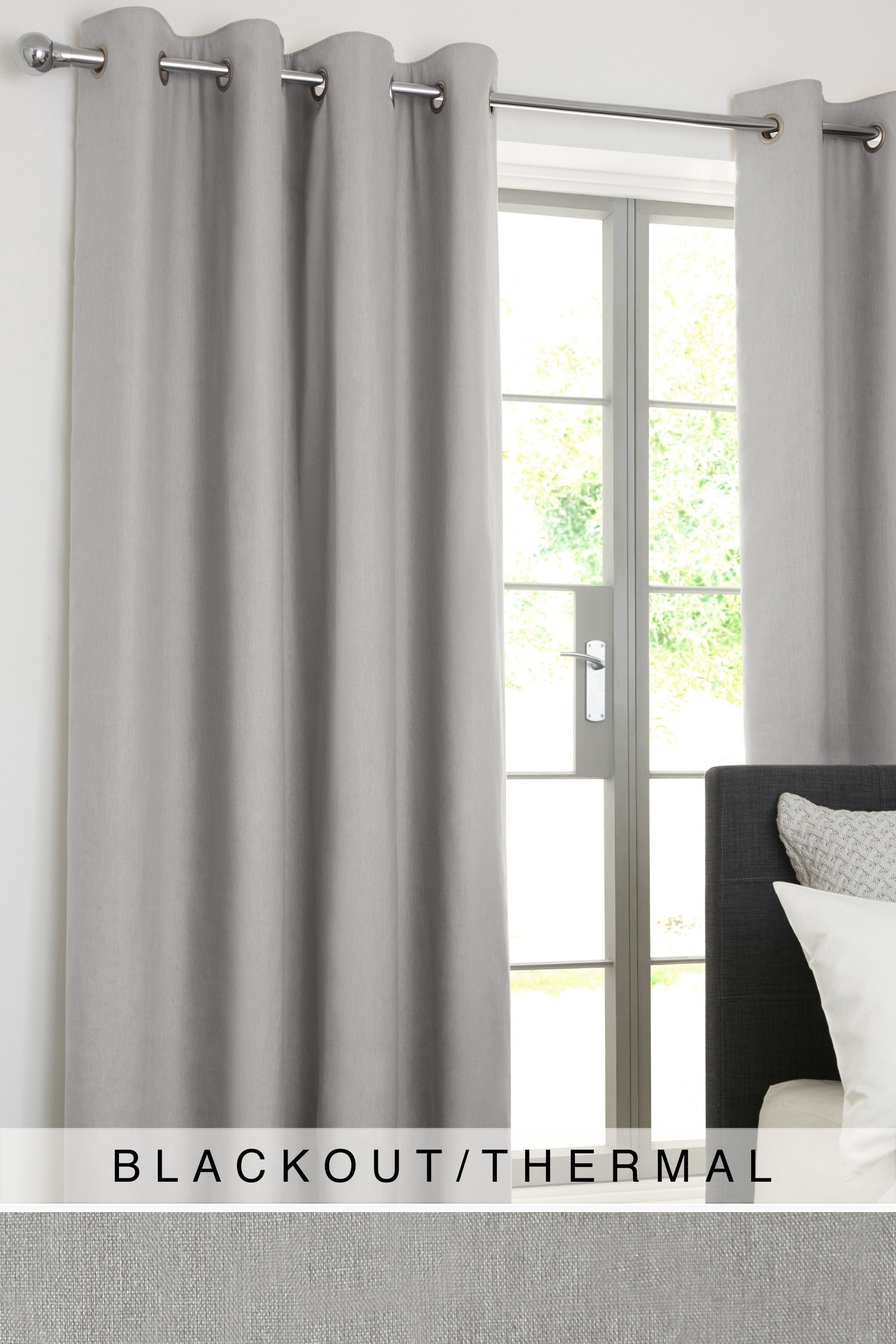 Grey Thermal Curtains Next Cotton Eyelet Blackout Thermal Curtains Grey Products In