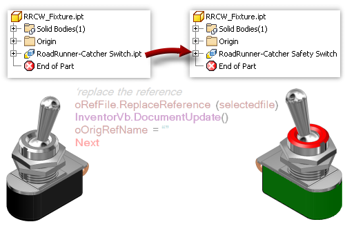 From The Trenches With Autodesk Inventor Ilogic Replace Derived