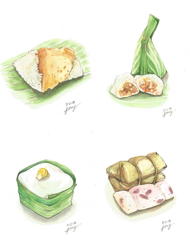 Food In 2018 Pinterest Thai Dessert Illustrations Kacang Sambal By Dua Putri Bjb