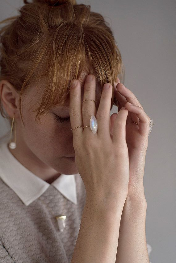 Delicate Teardrop Gold Ring by friedasophie on Etsy - photographed by me, model: Kira Pievskaya