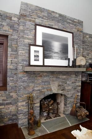 Champlain Stone, Interior, Fireplace, Wall, Keystone, Thin Ledge Stone,  American Granite™