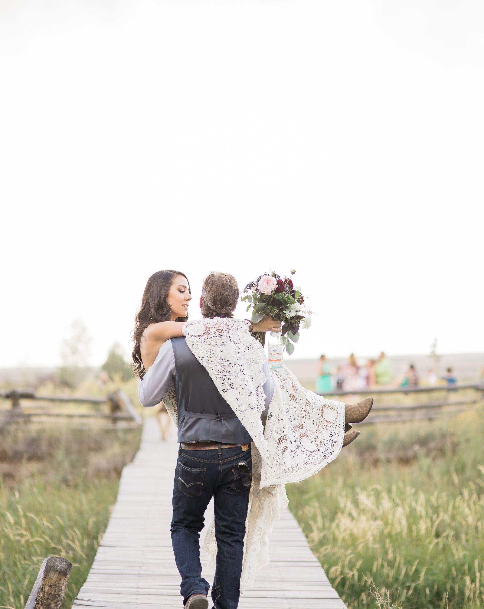 Outdoor wedding ideas boho inspired wedding white lace wedding
