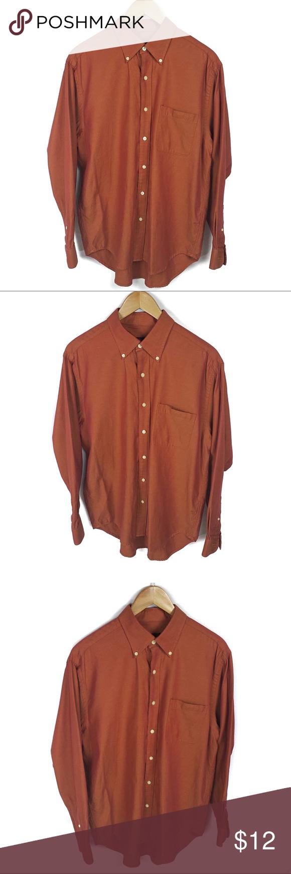 Austin Reed London Button Up Men S Large Austin Reed London Size Large Slight Iridescent Orange Color Euc Austin Ree Clothes Design Austin Reed Colorful Shirts
