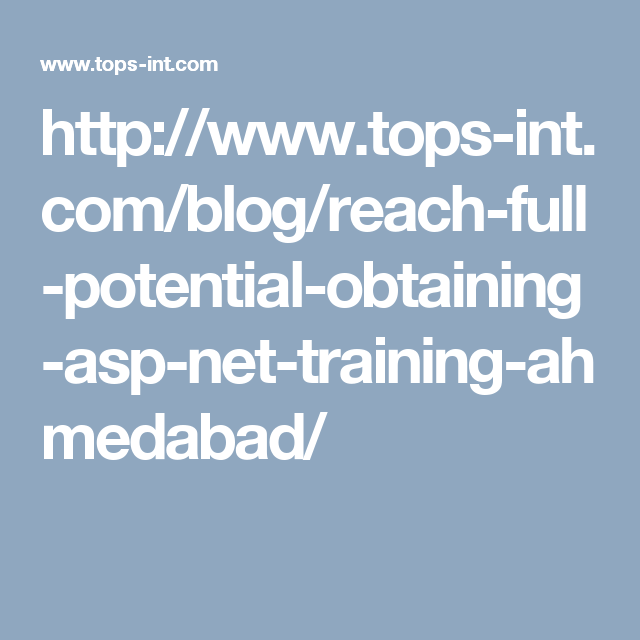 TOPS Technologies is one of the largest IT #training provider in ...