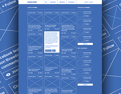 Social network ui ux blueprint wireframe best web design social network ui ux blueprint wireframe malvernweather Images
