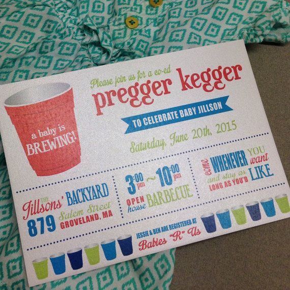 Celebrate Your Baby Shower With A Pregger Kegger Co Ed Backyard Barbecue These