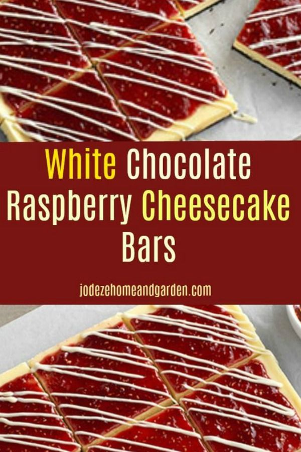 White Chocolate Raspberry Cheesecake Bar Dessert #whitechocolateraspberrycheesecake