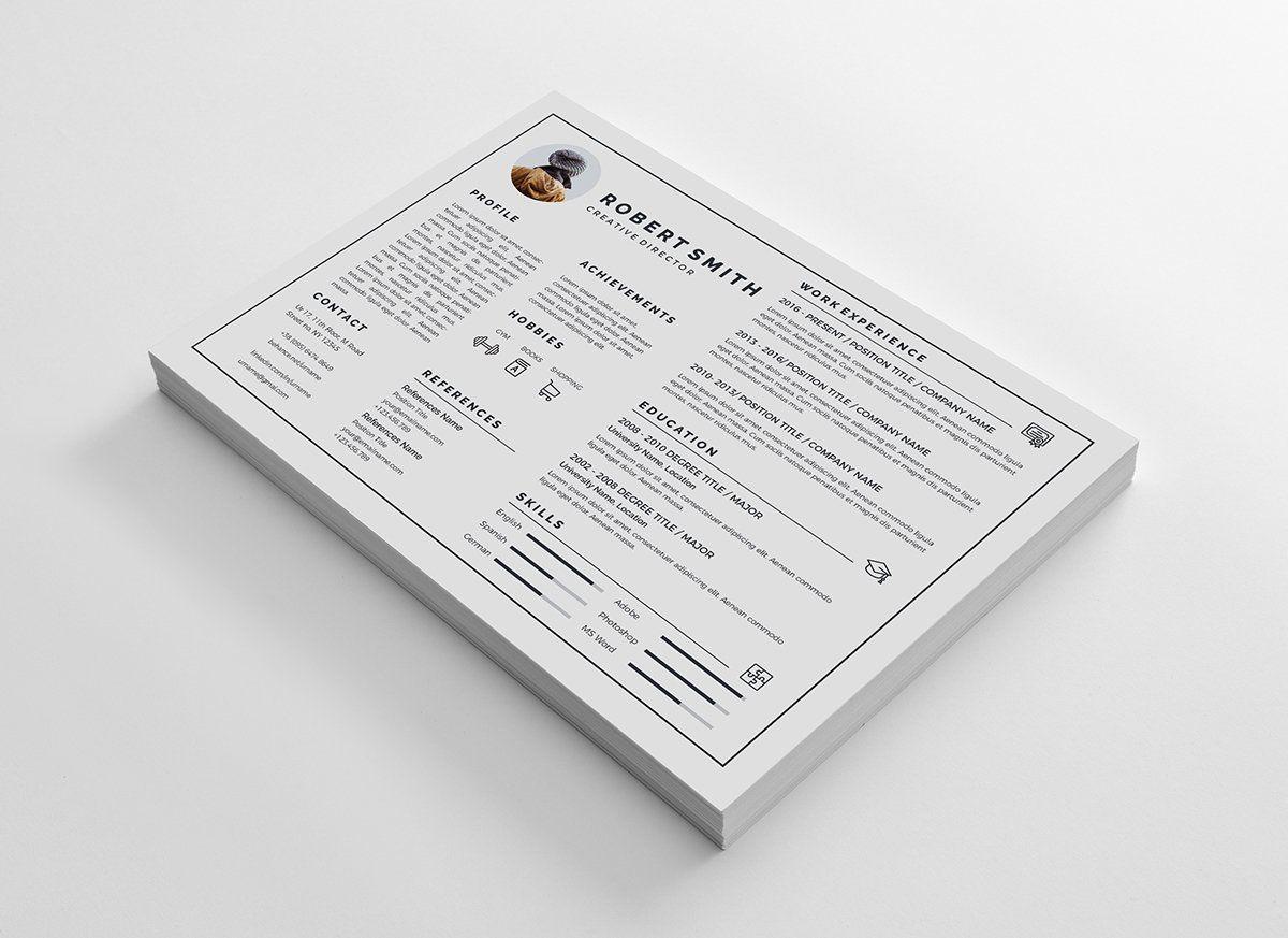 Landscape Resume Curriculum Vitae Web Design Curriculum