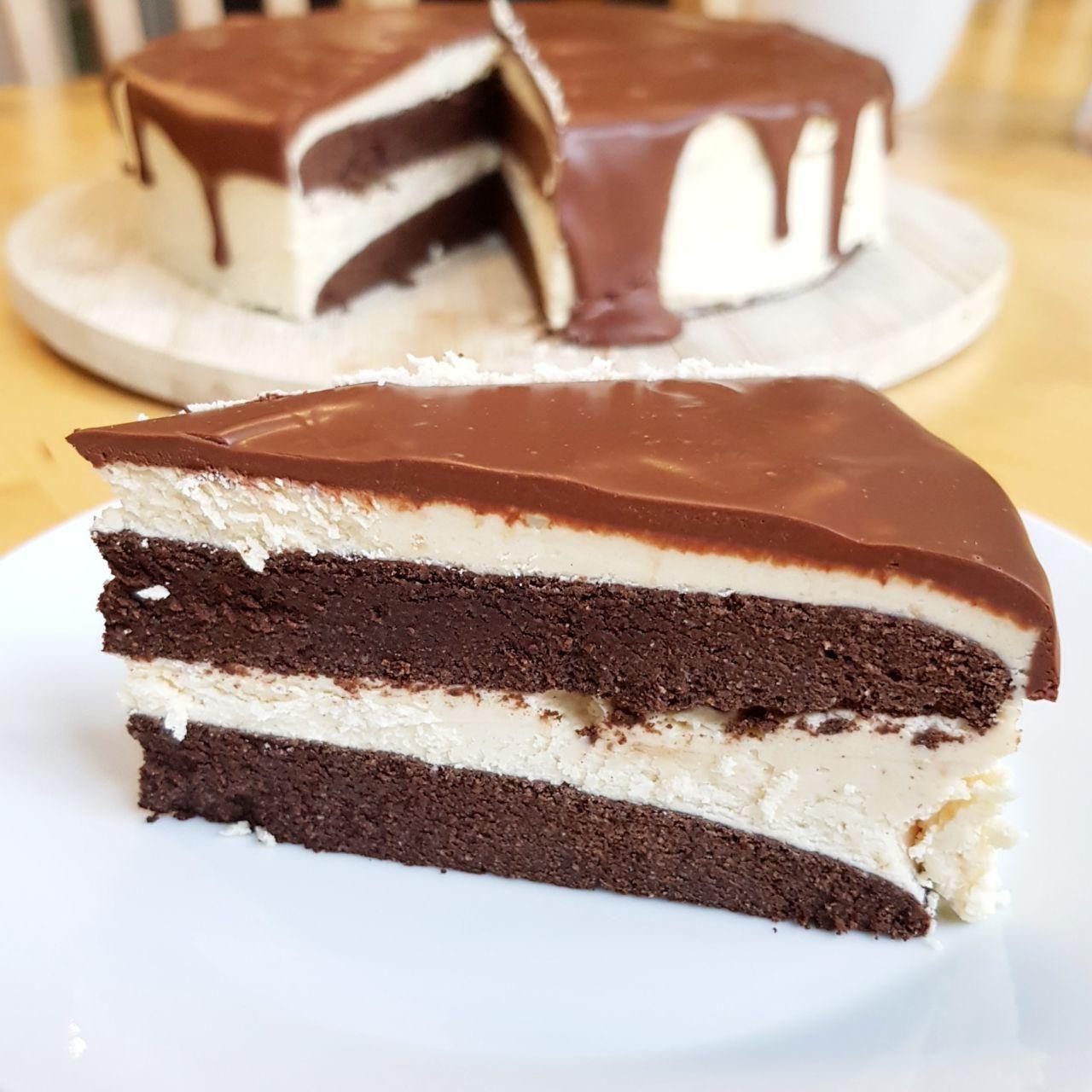 Keto Schoko-Mandelcreme Torte Rezept