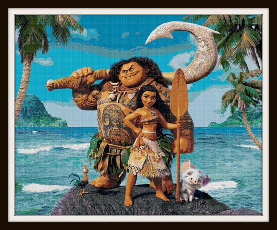 Moana Cross Stitch Pattern Moana Movie Moana Disney Movie Club