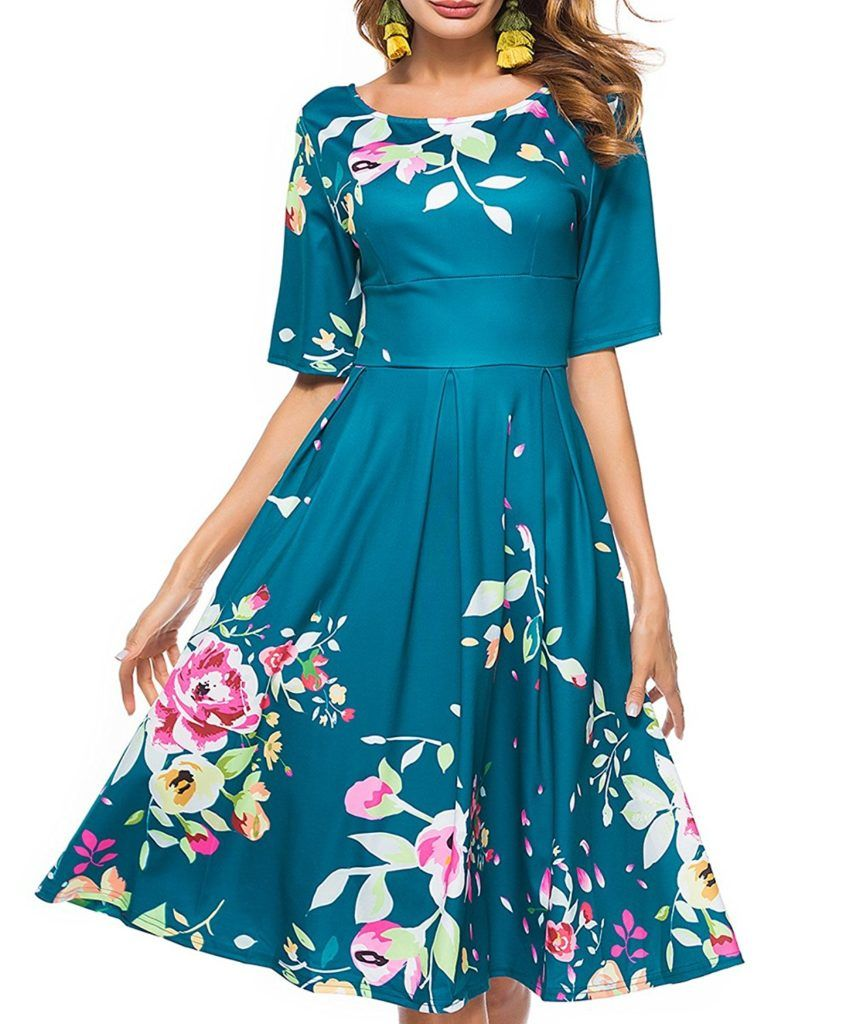 Ceasikery Women S Vintage 1950 S 3 4 Sleeve Floral Print Casual Cocktail Swing Dress Shop2online Best Woman S Fashion Products Designed To Provide Casual Dresses For Women Casual Cocktail Dress Dresses [ 1024 x 853 Pixel ]