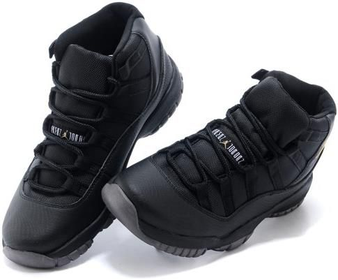 ed328257432 Nike Air Jordan XI 11 Retro Black Gold Men Shoes 378037 0073