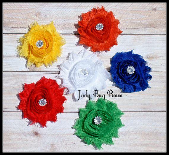 Flower Hair Clip Flower Clip Hair Clip Set Flower by JadyBugBows