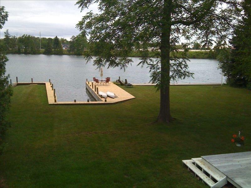 Boat slip and swim deck vacation rental lake house