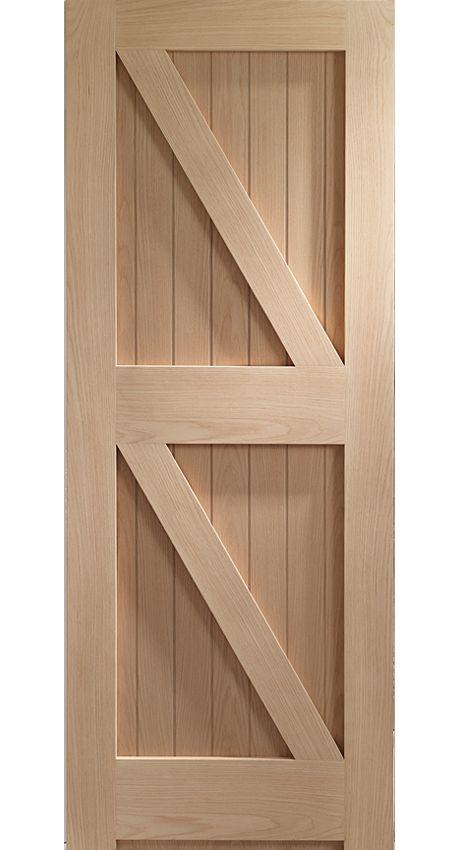 XL Internal Framed-Ledged And Braced – FLB Oak Door | OFLB27 ...