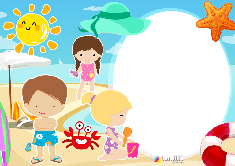 Molduras Infantis Em Png Para Foto Montagem Imagem Legal Moldura Infantil Png Infantil