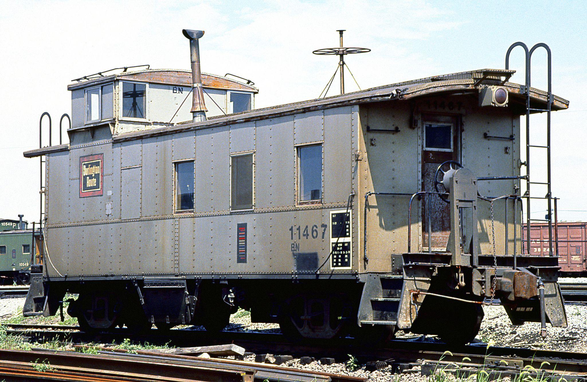 Bn caboose 11467 in 2020 ho trains burlington northern