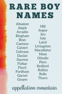 Rare Boy Names 2019: The Great Eights - Appellation Mountain