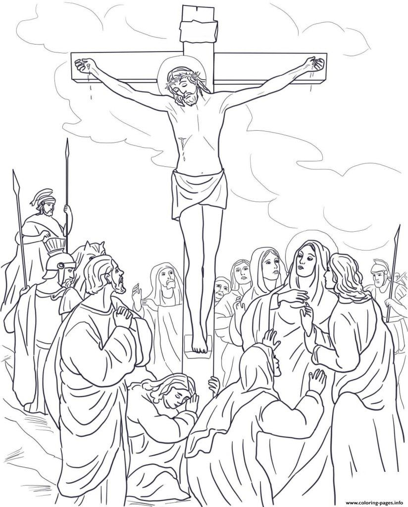 Good Friday Coloring Pages easter Cross coloring page