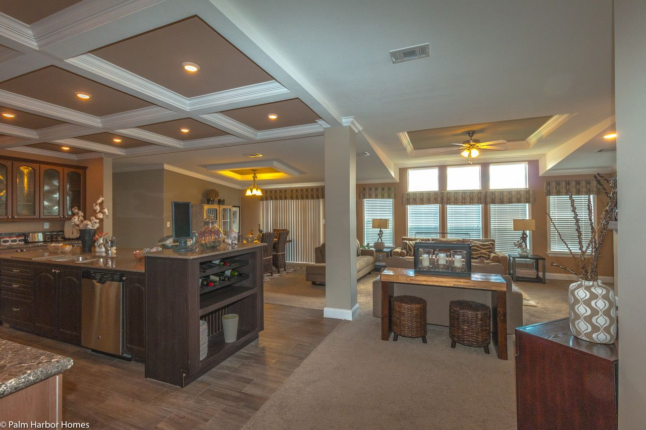 The tradewinds open floor plan by palm harbor homes 4 - Clayton homes terminator 4 bedroom ...